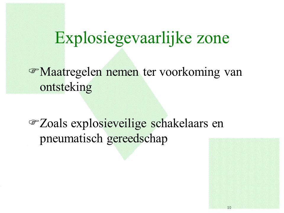Explosiegevaarlijke zone