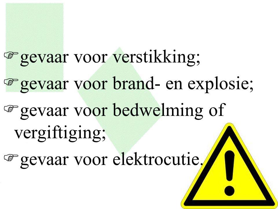 gevaar voor verstikking;