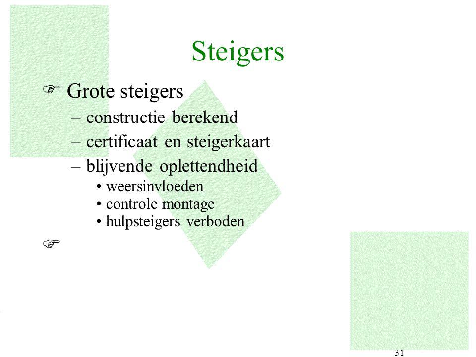 Steigers Grote steigers constructie berekend