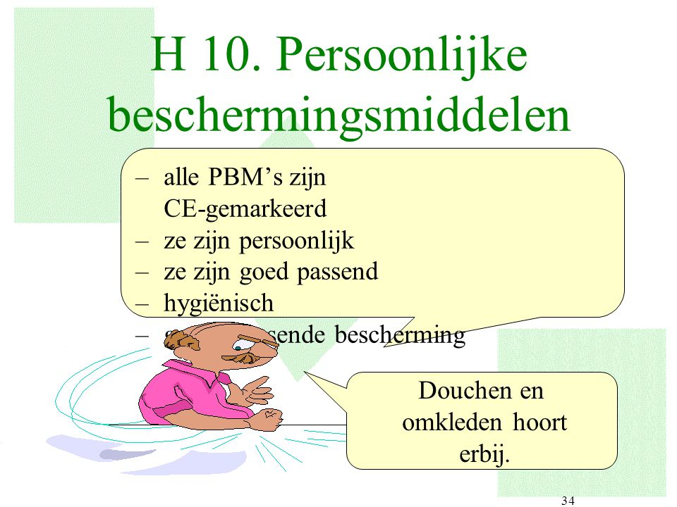 H 10. Persoonlijke beschermingsmiddelen