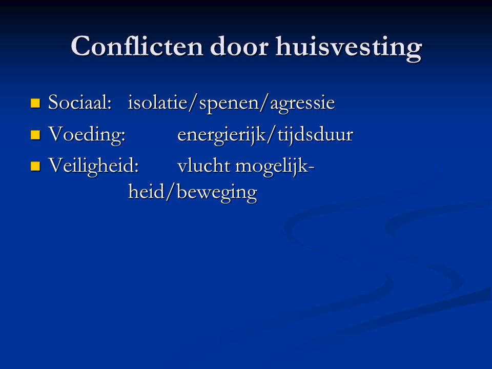 Conflicten door huisvesting