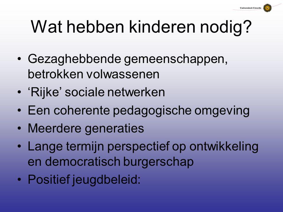 Wat hebben kinderen nodig