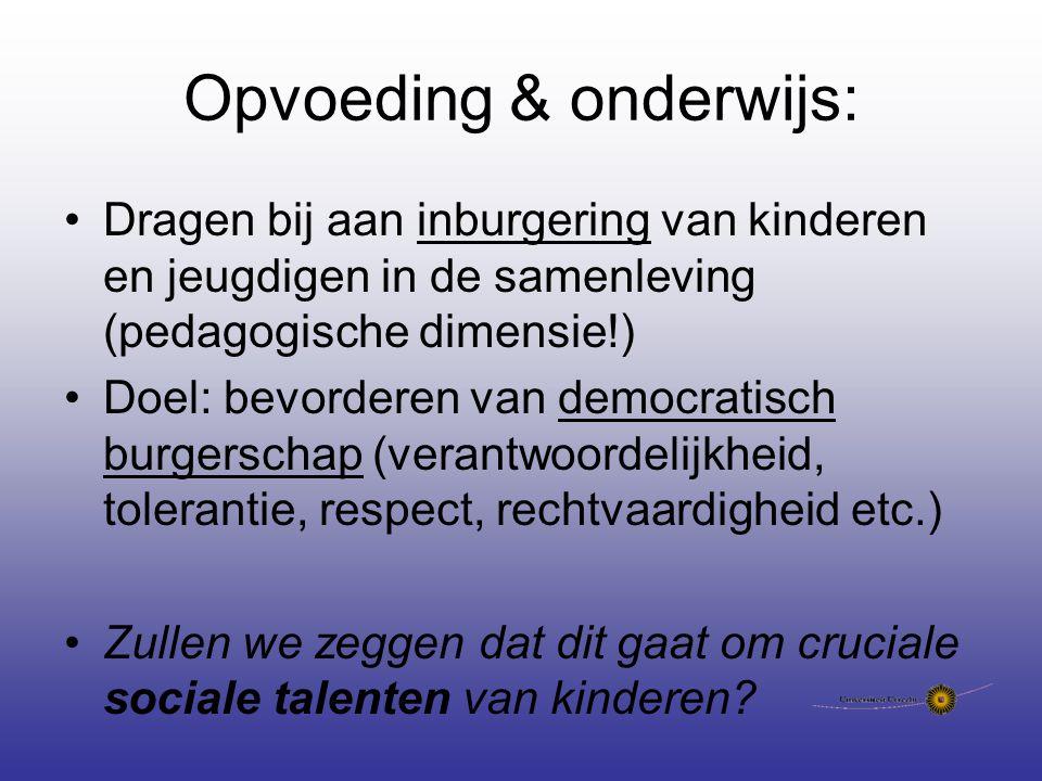 Opvoeding & onderwijs: