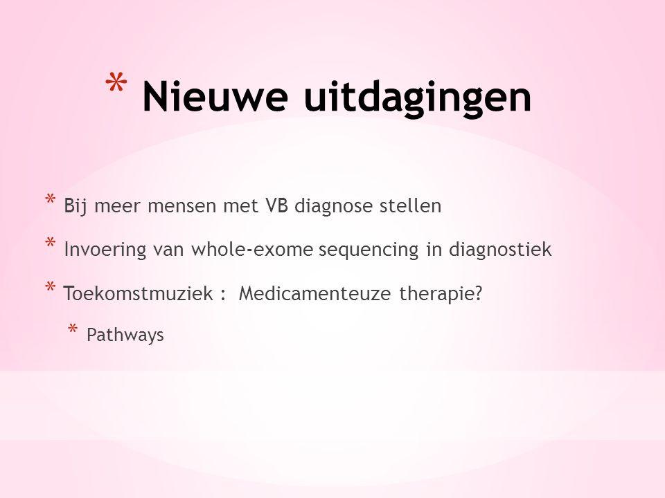 Nieuwe uitdagingen Bij meer mensen met VB diagnose stellen