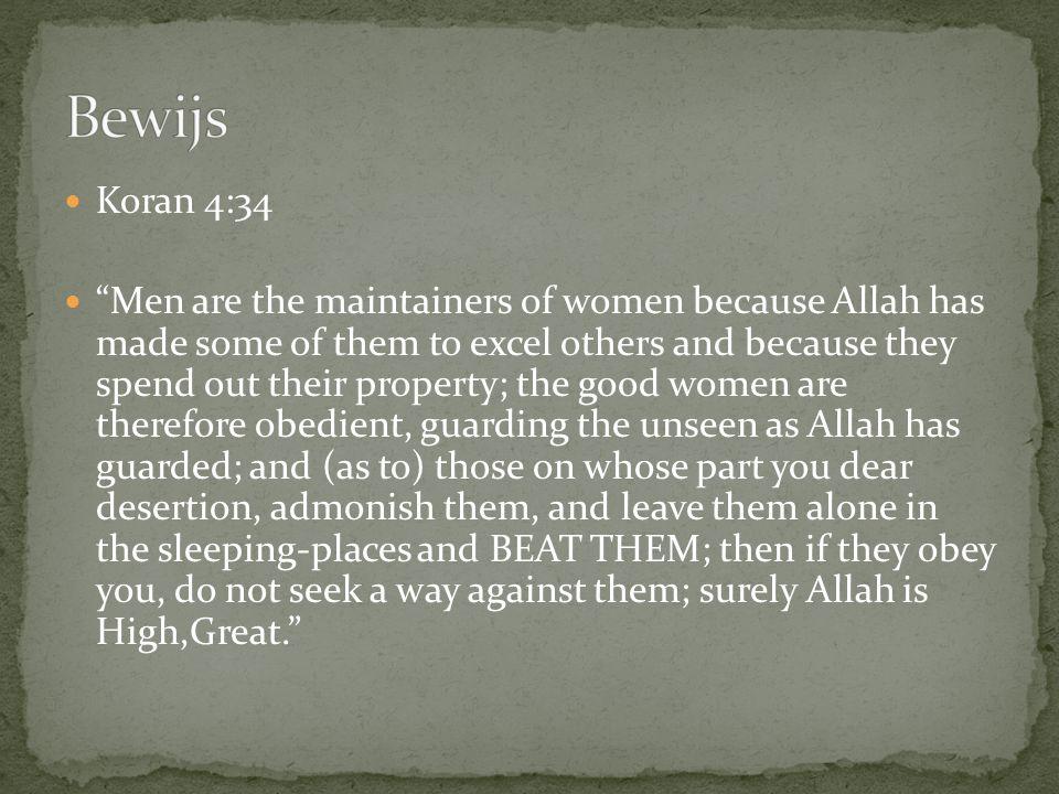 Bewijs Koran 4:34.