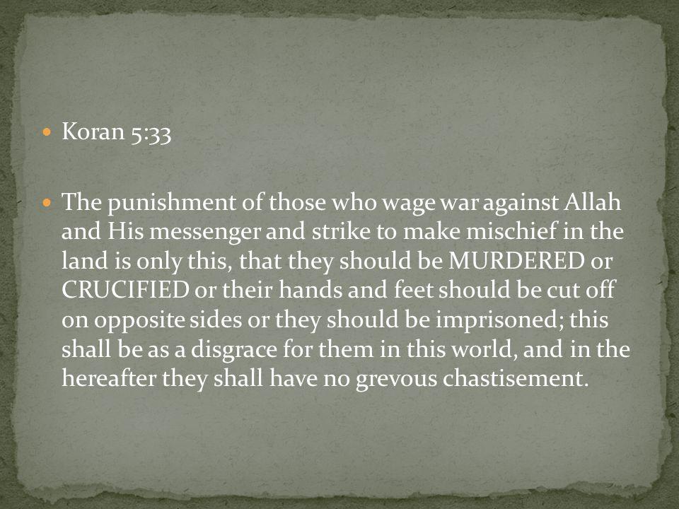 Koran 5:33