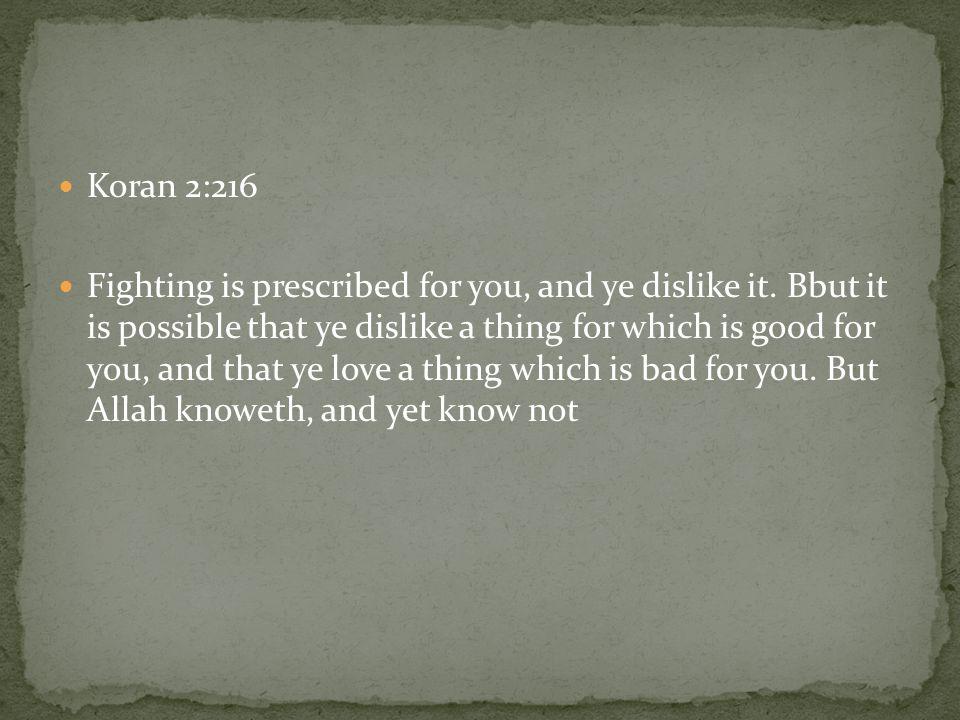 Koran 2:216