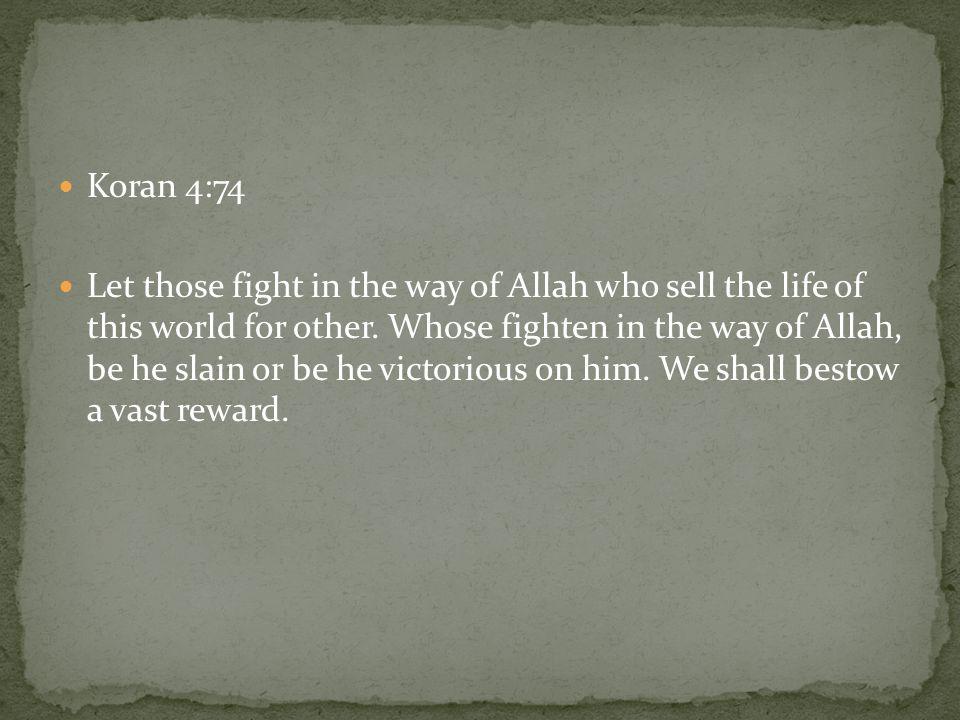 Koran 4:74