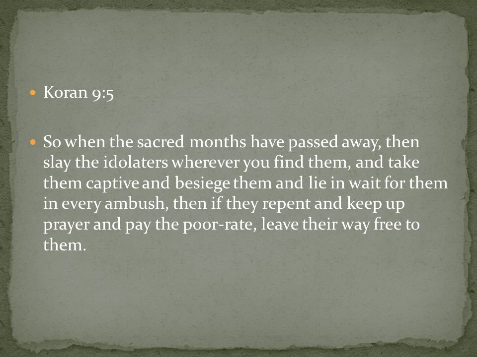 Koran 9:5