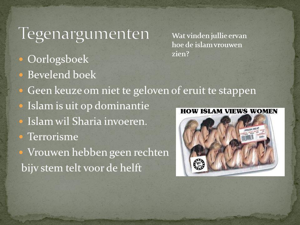 Tegenargumenten Oorlogsboek Bevelend boek