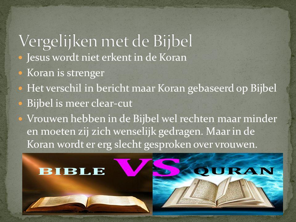 Vergelijken met de Bijbel