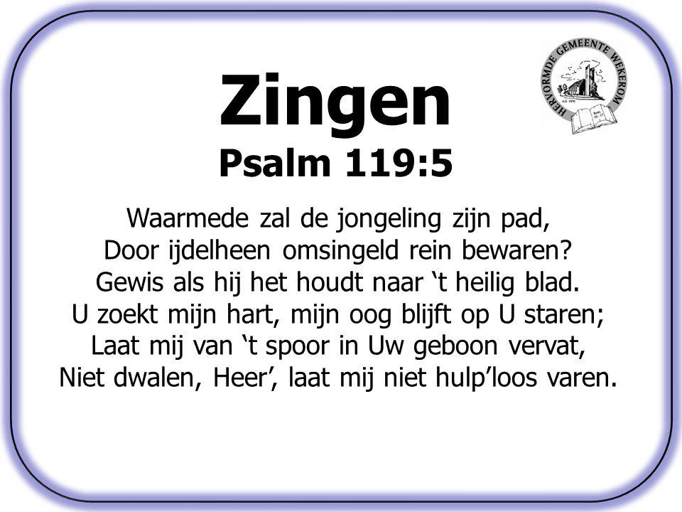 Zingen Psalm 119:5 Waarmede zal de jongeling zijn pad,