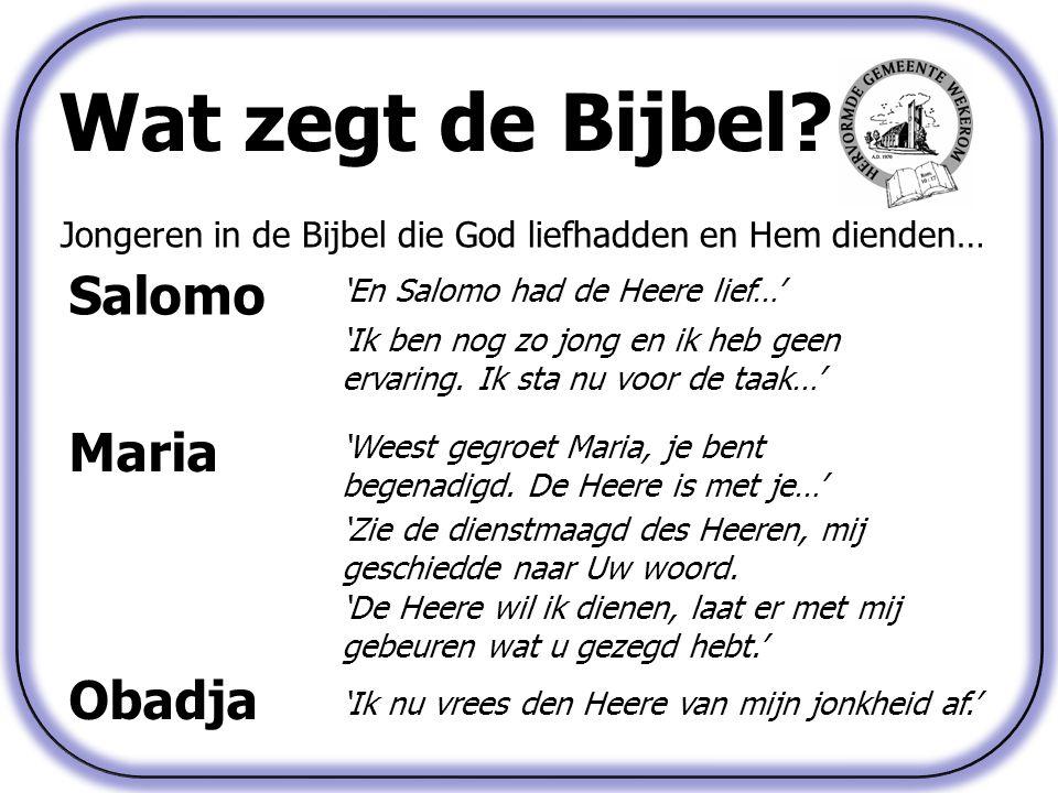 Wat zegt de Bijbel Salomo Maria Obadja