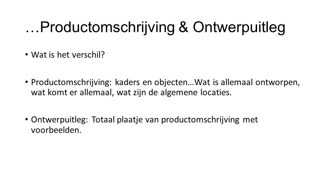 …Productomschrijving & Ontwerpuitleg