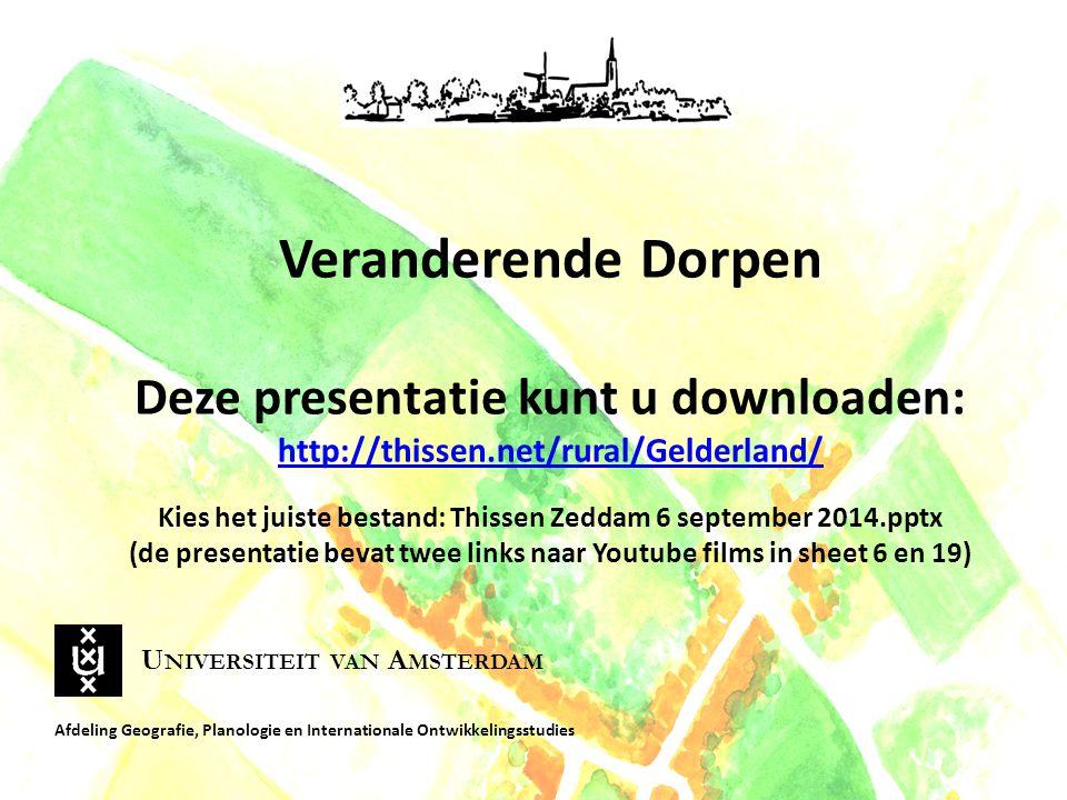 Veranderende Dorpen Deze presentatie kunt u downloaden: http://thissen