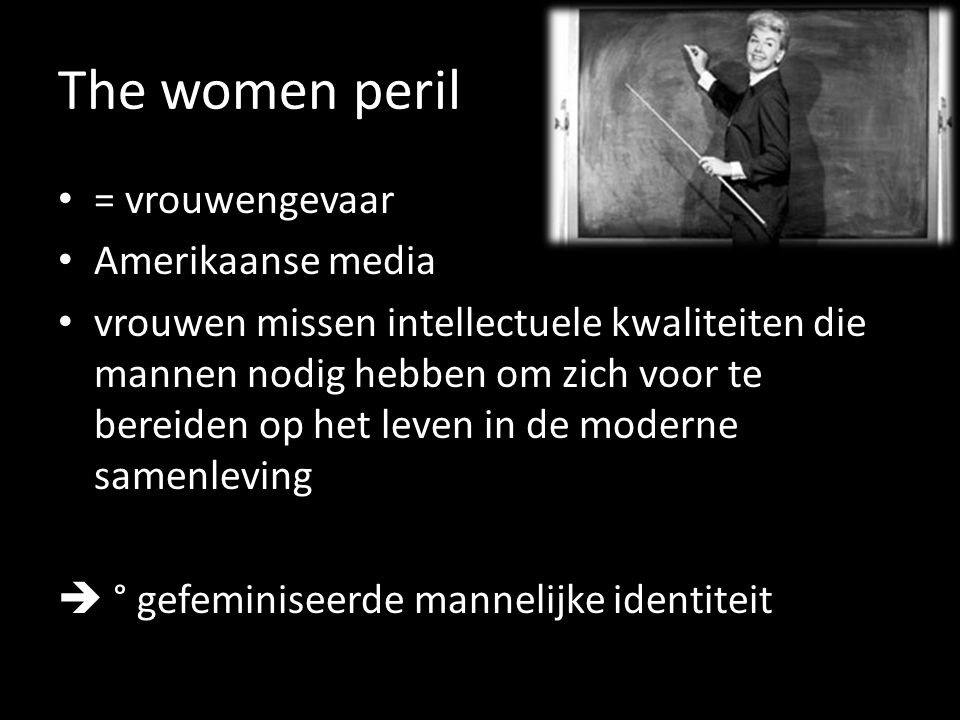 The women peril = vrouwengevaar Amerikaanse media