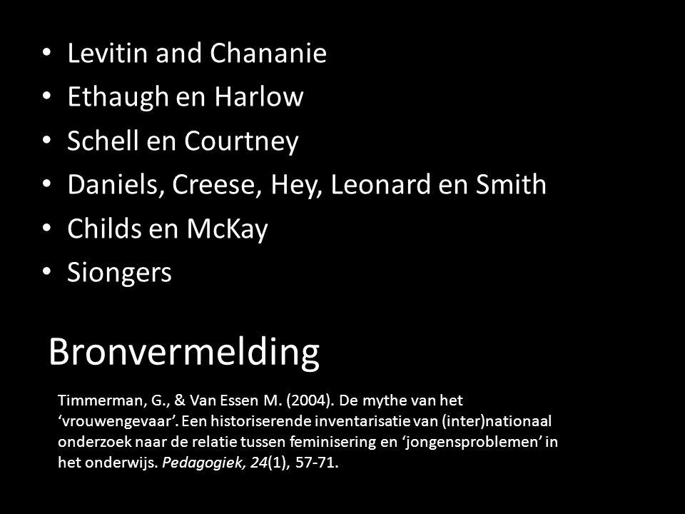 Bronvermelding Levitin and Chananie Ethaugh en Harlow