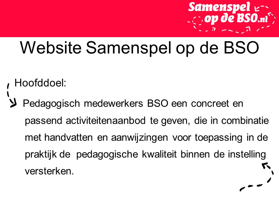 Website Samenspel op de BSO