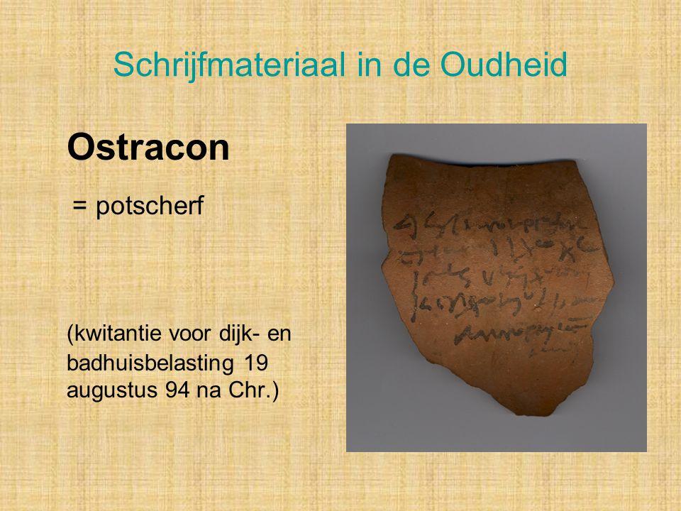 Schrijfmateriaal in de Oudheid