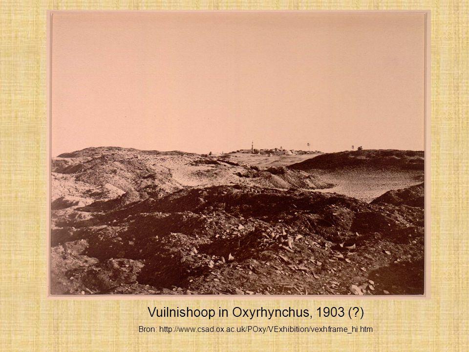 Vuilnishoop in Oxyrhynchus, 1903 ( )