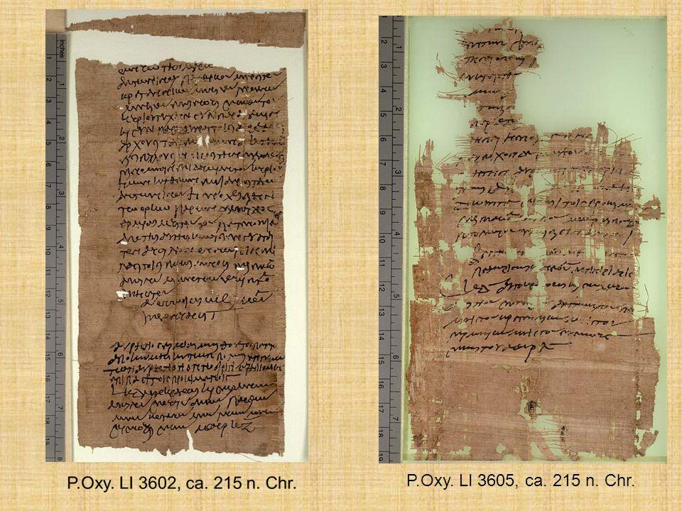 P.Oxy. LI 3605, ca. 215 n. Chr. 22