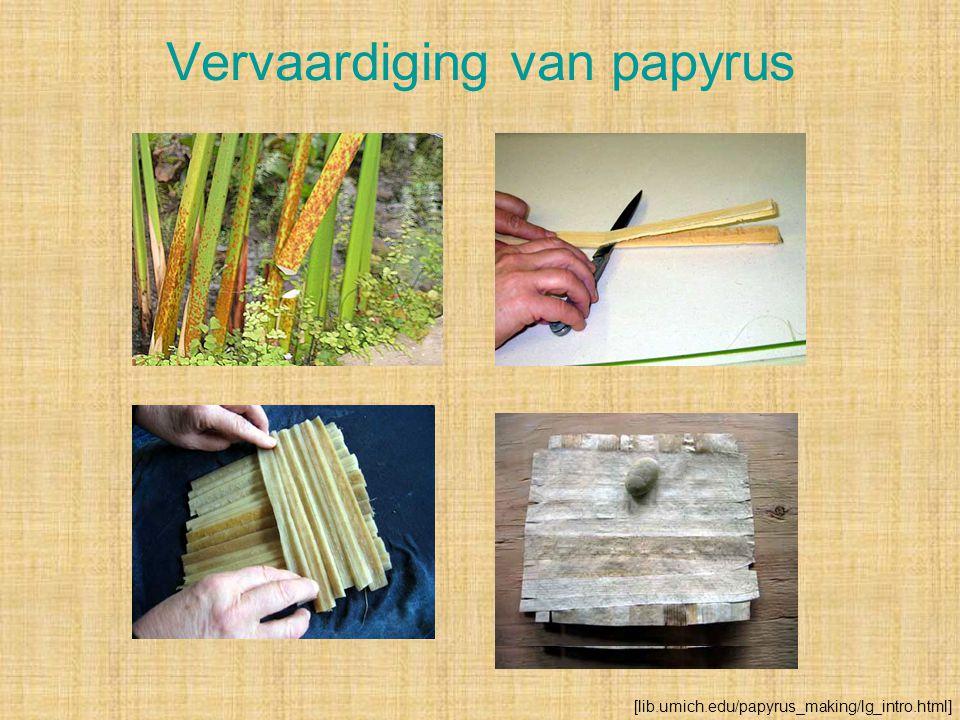 Vervaardiging van papyrus