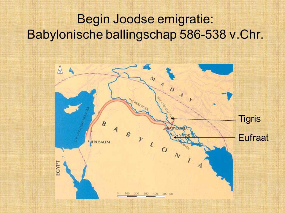 Begin Joodse emigratie: Babylonische ballingschap 586-538 v.Chr.