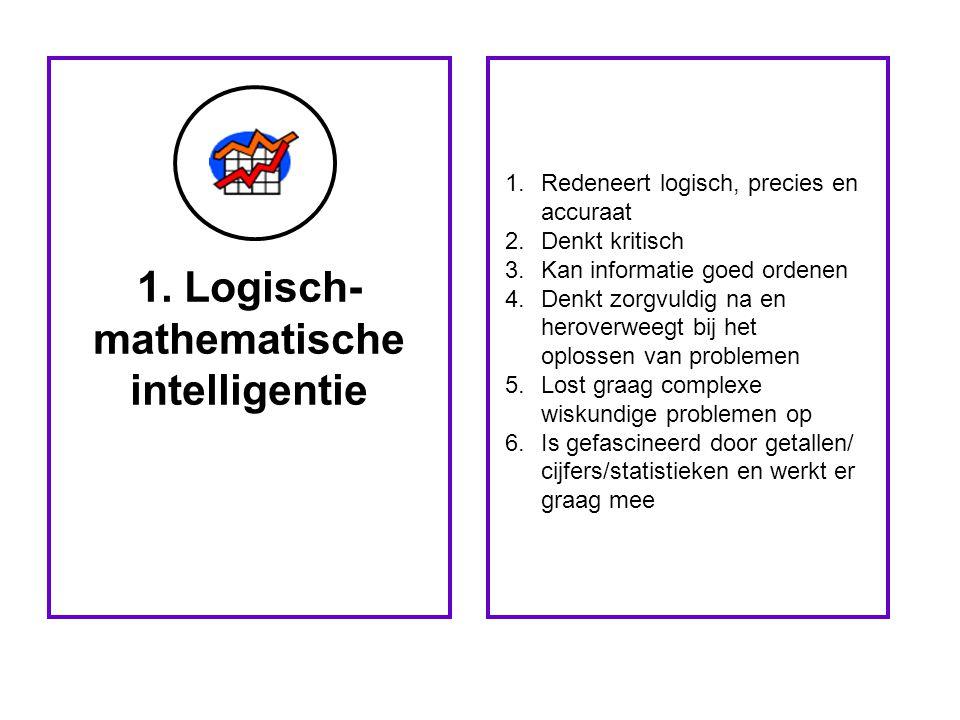 1. Logisch-mathematische intelligentie