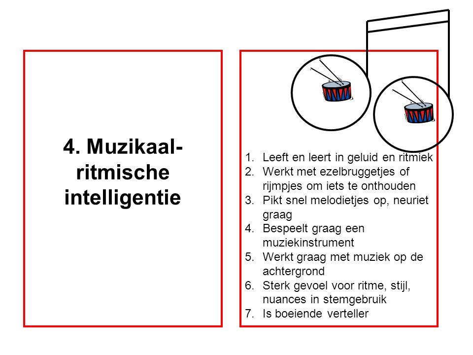 4. Muzikaal-ritmische intelligentie