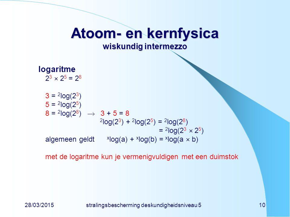 Atoom- en kernfysica wiskundig intermezzo