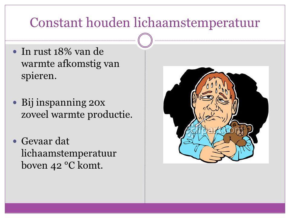 Constant houden lichaamstemperatuur