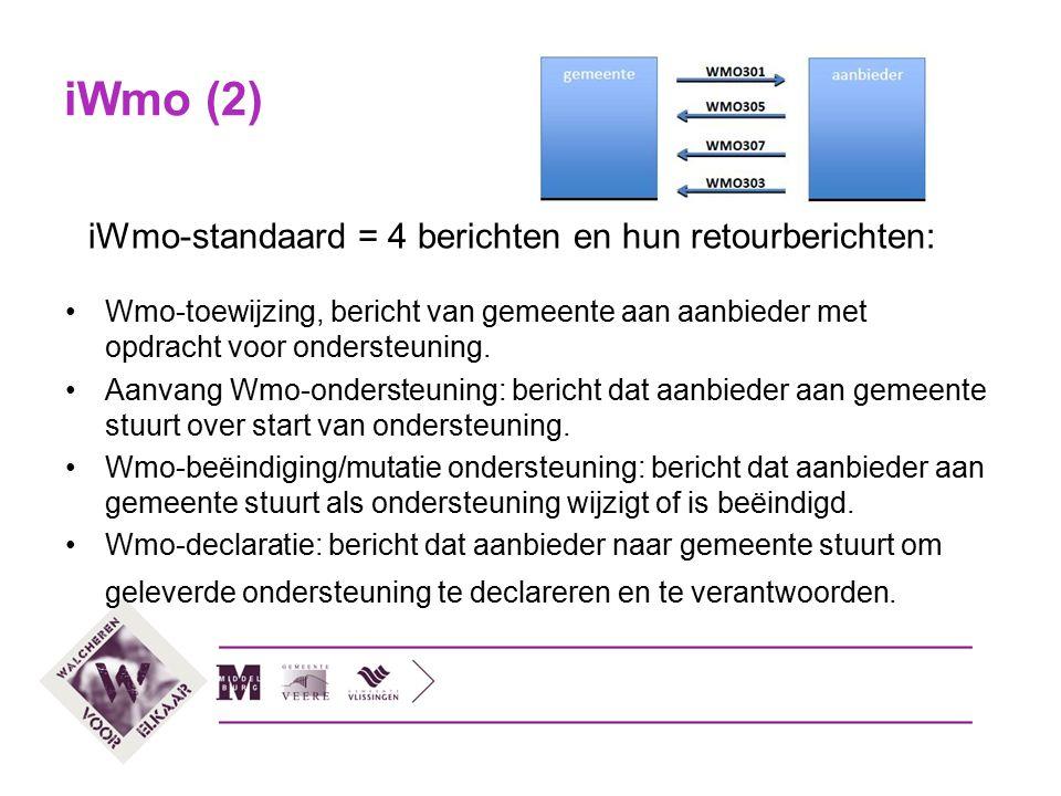 iWmo-standaard = 4 berichten en hun retourberichten: