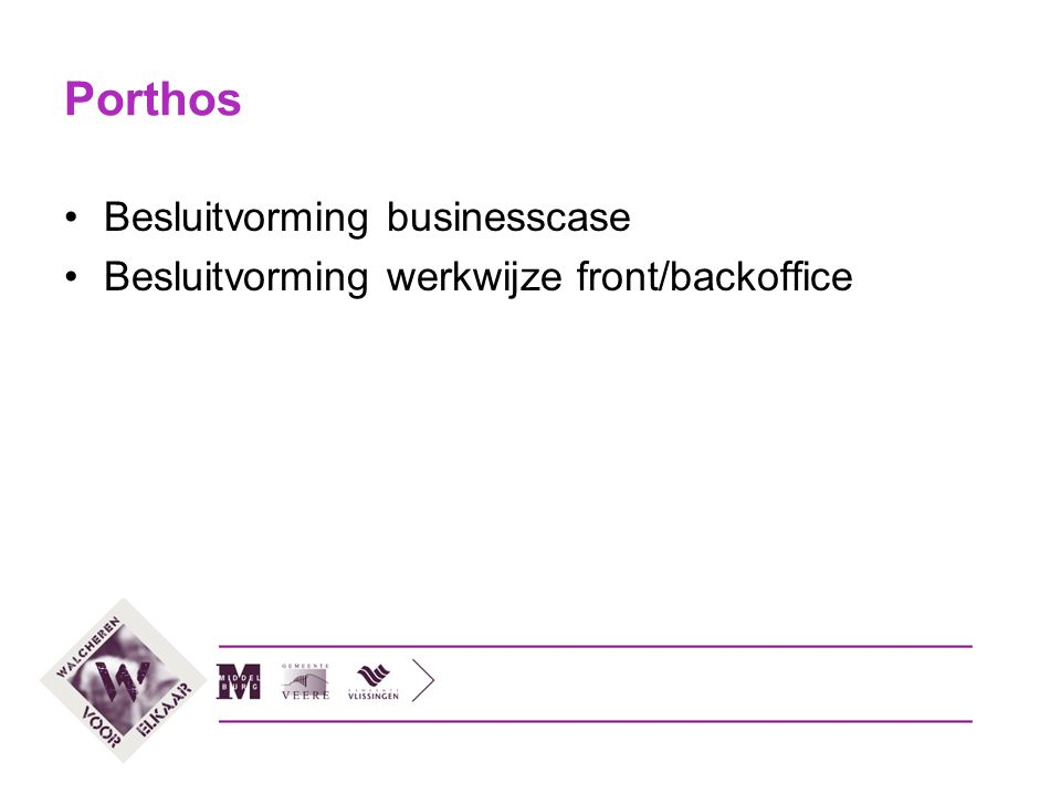 Porthos Besluitvorming businesscase