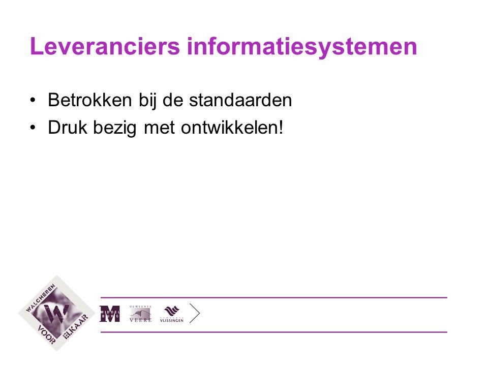 Leveranciers informatiesystemen