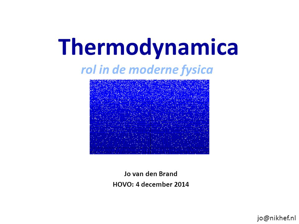 Jo van den Brand HOVO: 4 december 2014