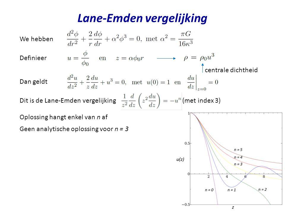 Lane-Emden vergelijking