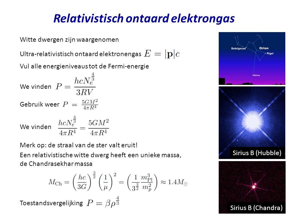 Relativistisch ontaard elektrongas