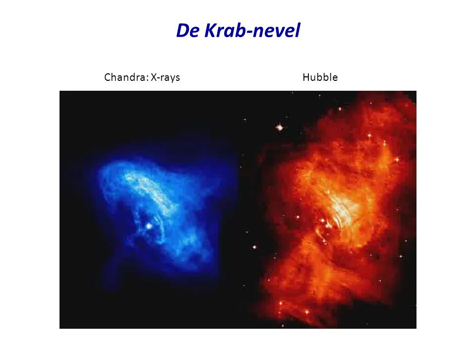 De Krab-nevel Chandra: X-rays Hubble