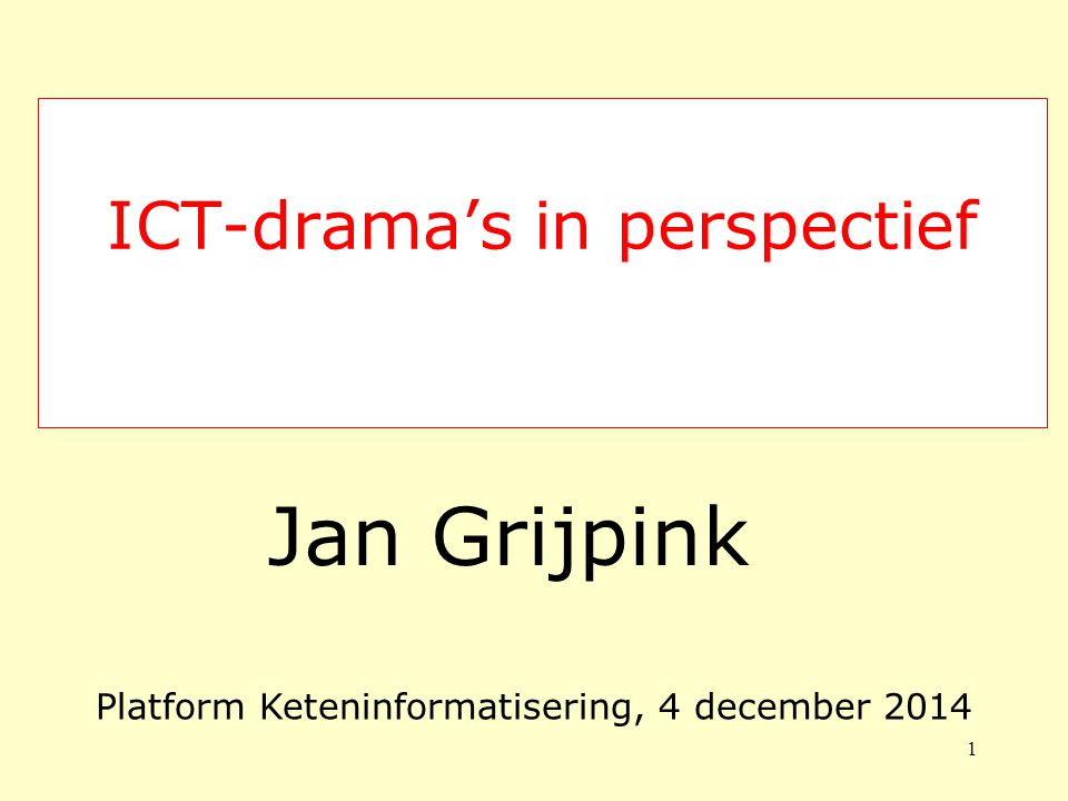 ICT-drama's in perspectief