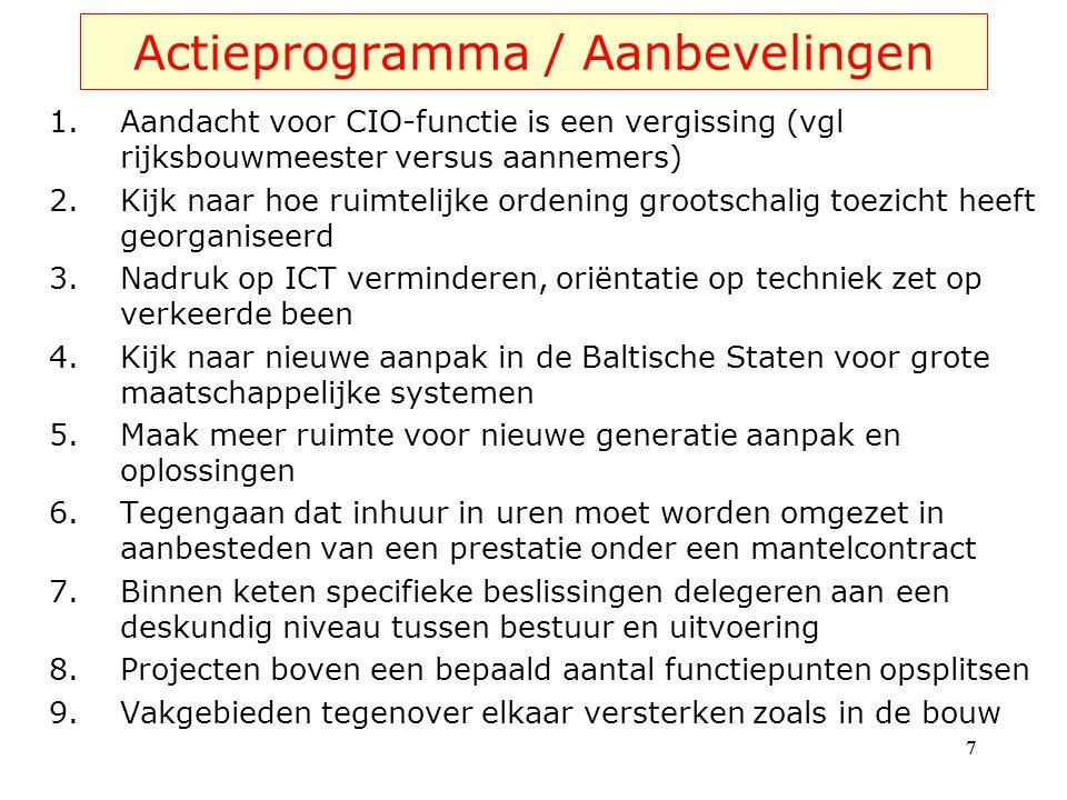 Actieprogramma / Aanbevelingen