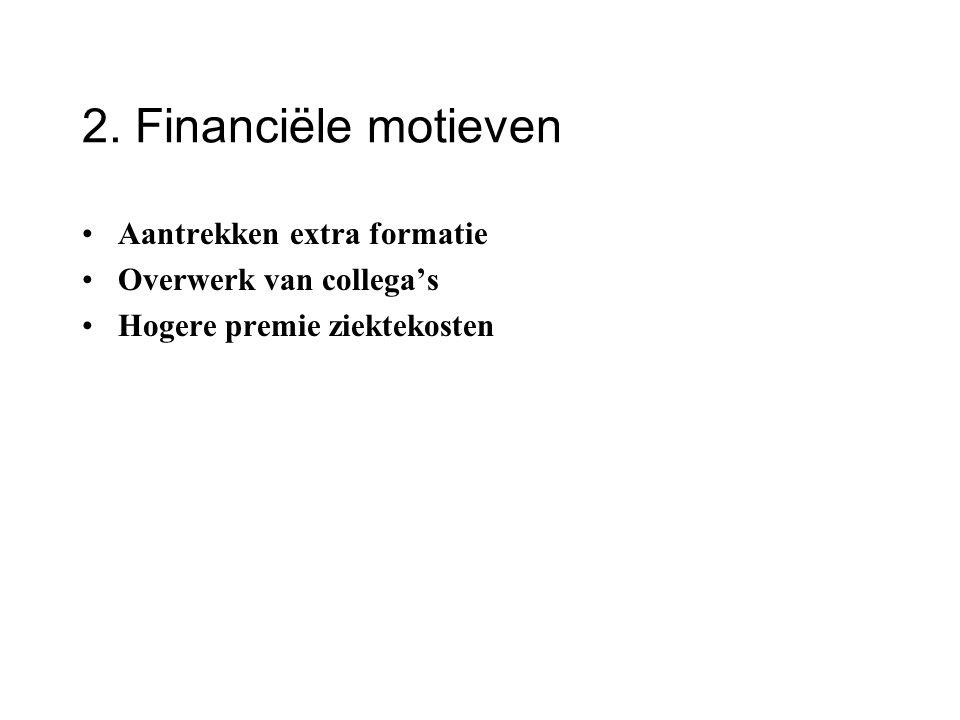 2. Financiële motieven Aantrekken extra formatie