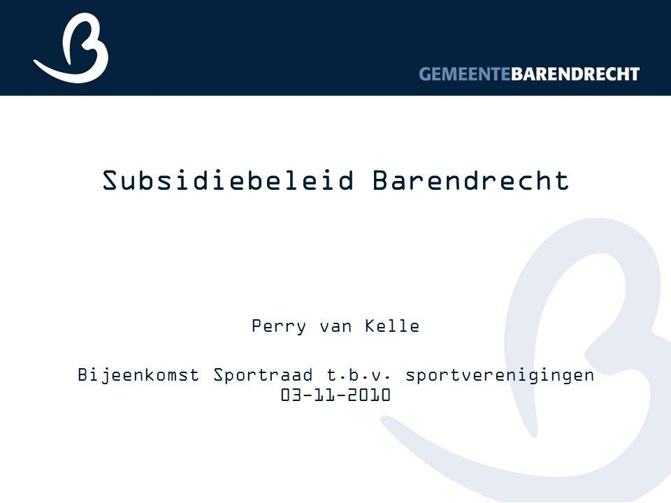 Subsidiebeleid Barendrecht