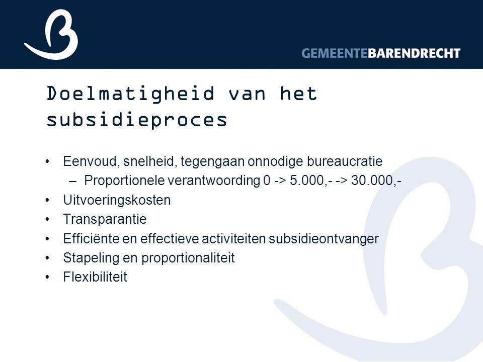Doelmatigheid van het subsidieproces