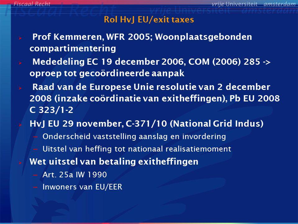 Prof Kemmeren, WFR 2005; Woonplaatsgebonden compartimentering