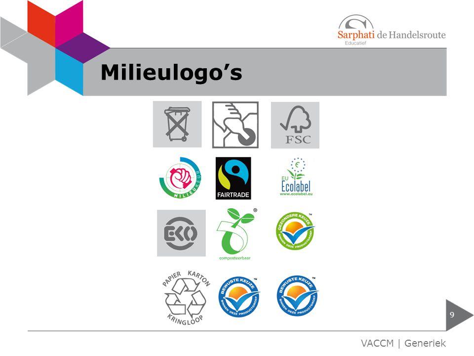 Milieulogo's VACCM | Generiek