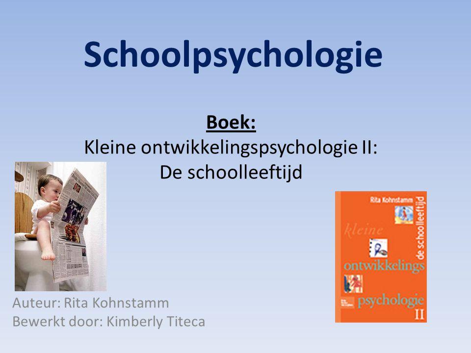Boek: Kleine ontwikkelingspsychologie II: De schoolleeftijd