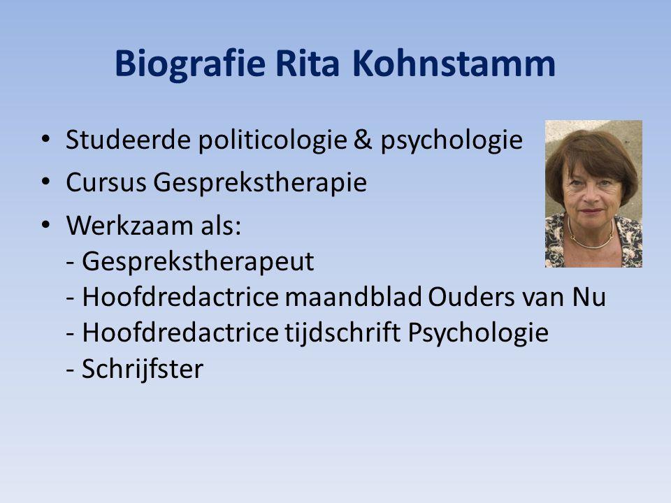 Biografie Rita Kohnstamm