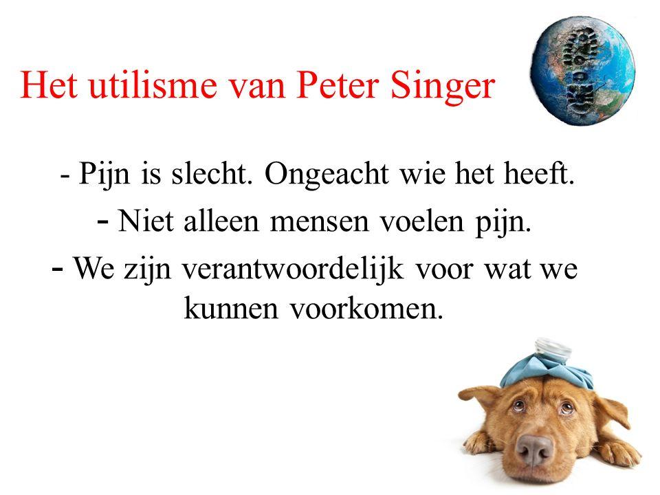 Het utilisme van Peter Singer