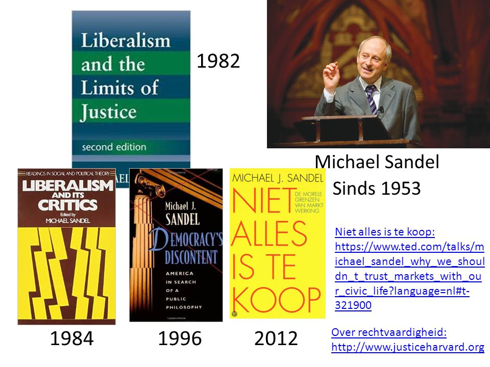 1982 Michael Sandel. Sinds 1953.