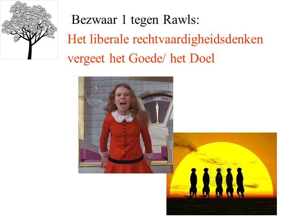 Bezwaar 1 tegen Rawls: Het liberale rechtvaardigheidsdenken